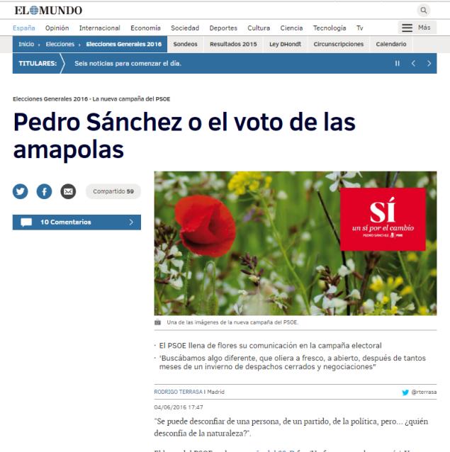 El Mundo Pedro Sanchez