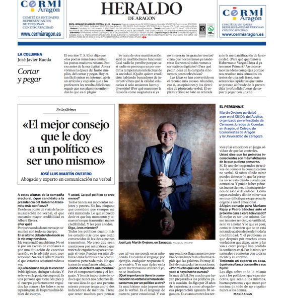 Contraportada Heraldo Aragón