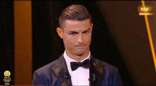 Ronaldo escucha a Florentino referencias a Di Stefano como mejor jugador